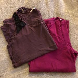 Old navy tank and 3/4 length t, size XL